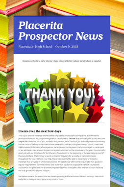 Placerita Prospector News