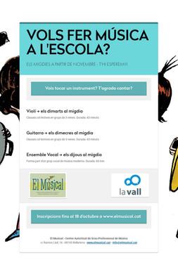 VOLS FER MÚSICA A L'ESCOLA?