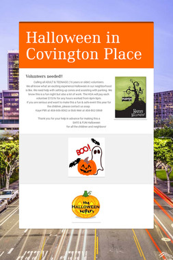 Halloween in Covington Place