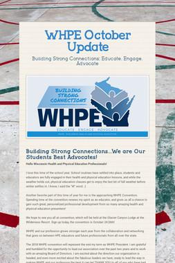 WHPE October Update