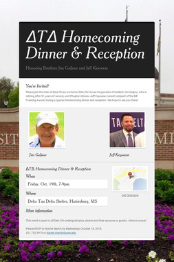 ΔTΔ Homecoming Dinner & Reception