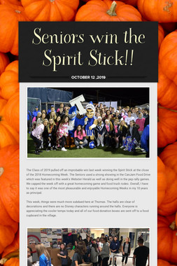 Seniors win the Spirit Stick!!