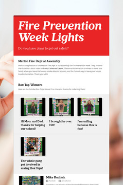Fire Prevention Week Lights