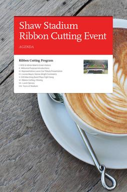 Shaw Stadium Ribbon Cutting Event