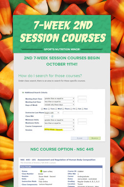 7-week 2nd Session Courses