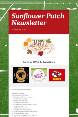 Sunflower Patch Newsletter