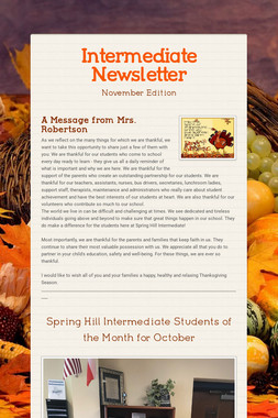 Intermediate Newsletter