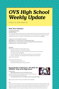 OVS High School Weekly Update