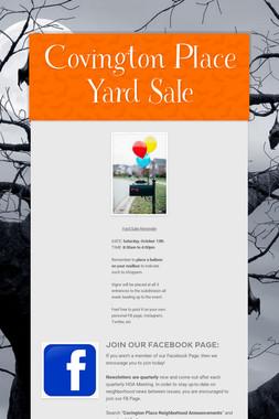 Covington Place Yard Sale