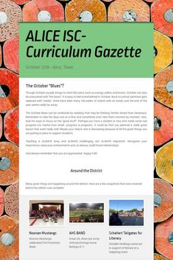 ALICE ISC- Curriculum Gazette