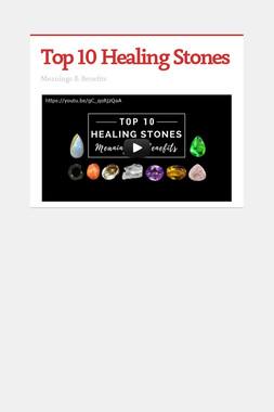 Top 10 Healing Stones