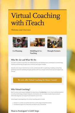 Virtual Coaching with iTeach