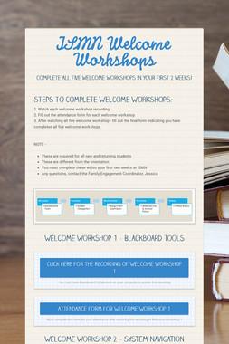 ISMN Welcome Workshops