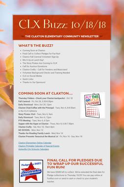 CLX Buzz: 10/18/18