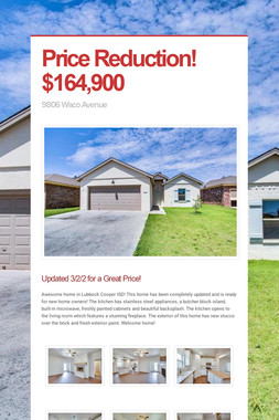 Price Reduction! $164,900
