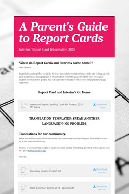 A Parent's Guide to Report Cards