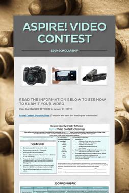 Aspire! Video Contest