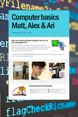 Computer basics Matt, Alex & Ari
