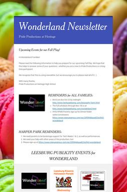 Wonderland Newsletter