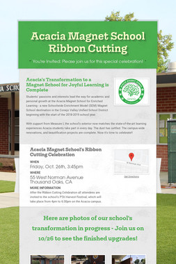 Acacia Magnet School Ribbon Cutting