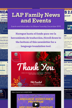 LAP Family News and Events