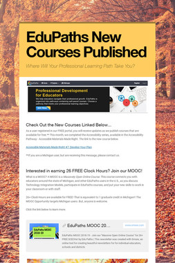 EduPaths New Courses Published