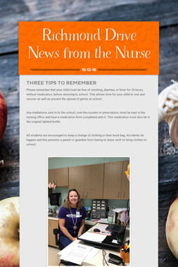 Richmond Drive News from the Nurse