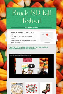 Brock ISD Fall Festival