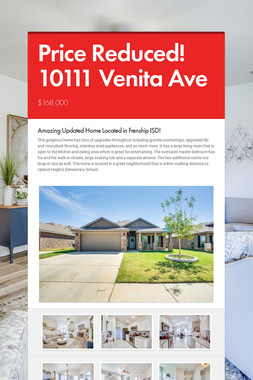 Price Reduced! 10111 Venita Ave