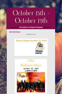 October 15th - October 19th
