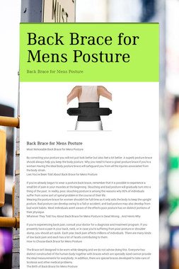 Back Brace for Mens Posture