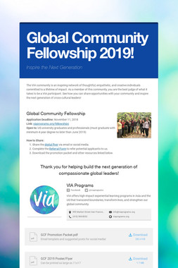 Global Community Fellowship 2019!