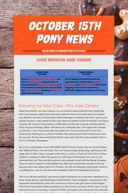 October 15th Pony News