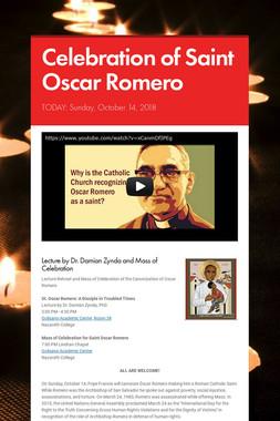 Celebration of Saint Oscar Romero