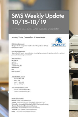 SMS Weekly Update 10/15-10/19