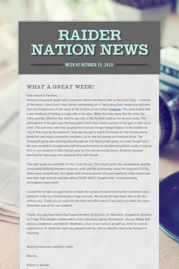 Raider Nation News