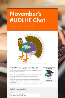 November's #UDLHE Chat