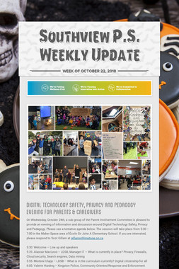 Southview P.S. Weekly Update