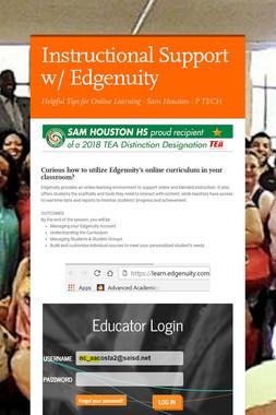 Instructional Support w/ Edgenuity
