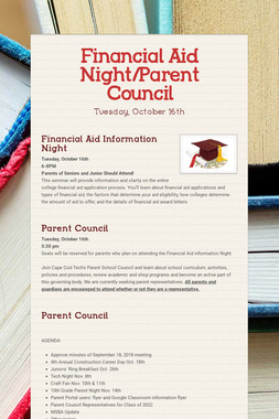 Financial Aid Night/Parent Council