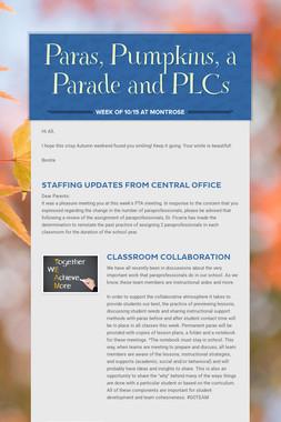 Paras, Pumpkins, a Parade and PLCs