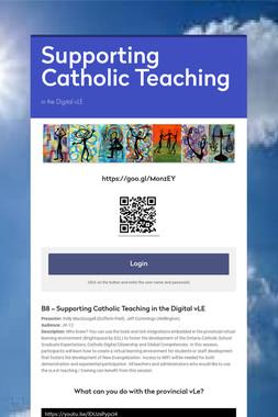 Supporting Catholic Teaching