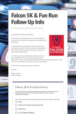 Falcon 5K & Fun Run Follow Up Info