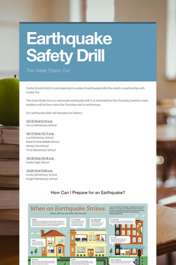 Earthquake Safety Drill