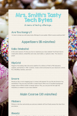 Mrs. Smith's Tasty Tech Bytes