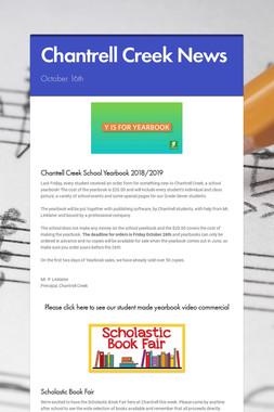 Chantrell Creek News