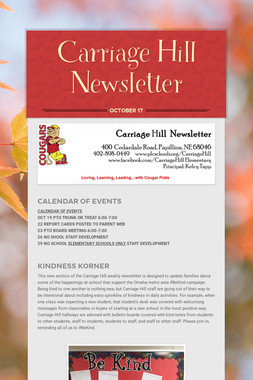 Carriage Hill Newsletter