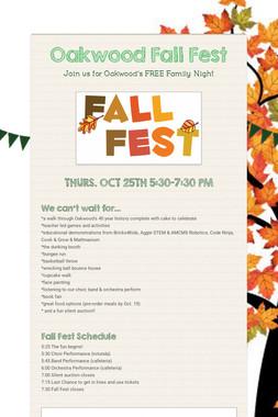 Oakwood Fall Fest