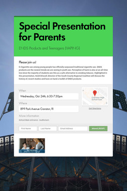 Special Presentation for Parents