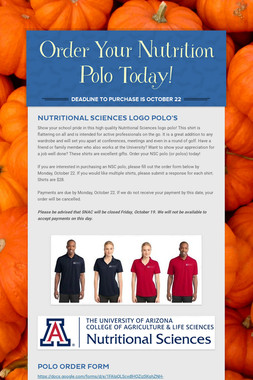 Order Your Nutrition Polo Today!